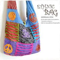 エスニックバッグ【jac31】大容量刺繍が可愛い民族ショルダーバッグ!人気のハンドメイド鞄レディース &メンズにも大人気! 斜めがけでさらに可愛く♪おしゃれなエスニック&アジアン雑貨A4バッグ