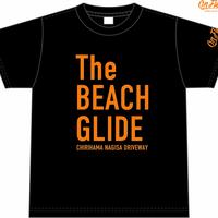 The BEACH GLIDE Tシャツ(ブラック:オレンジ)