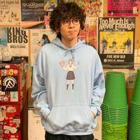 ロマンティック時限パーカー(ブルー)【ONG20-06-B-M~XL】