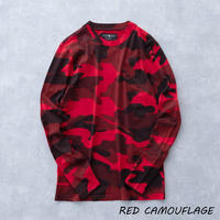 HYDROGEN CAMO SKULL T-SHIRT LS(RED CAMOUFLAGE)
