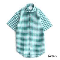 FEEL EASY ORIGINAL GINGHAM CHECK S/S SHIRT(Green)