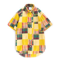 FEEL EASY ORIGINAL INDIA MADRAS CHECK S/S B.D SHIRT(Yellow)