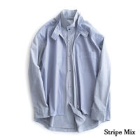 nuterm Layered Shirts Jacket(Stripe Mix)