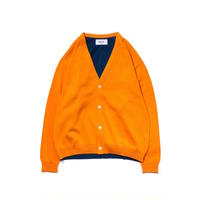 UNITUS Color Block Cardigan(Orange)