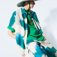 UNITUS Super Large Half Sleeve Shirt Brush Camo(Earth Green)