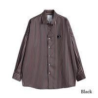 SHAREEF BLOCK STRIPE L/S SHIRTS(Black)