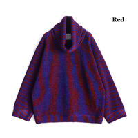 SHAREEF MOLE STRIPE PULL OVER RE-NECK(Red)