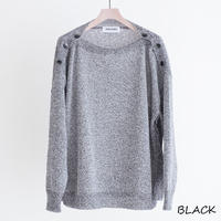 DISCOVERED BUTTON KNIT(BLACK)