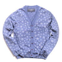 HYDROGEN STAR PATTERN CARDIGAN(BLUE)