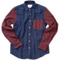 PORTUGUESE Flannel Flannel Shirt(BLUE×RED)