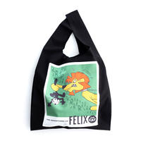 DISCOVERED FELIX CUT AND PASTE ECO BAG(BLACK)