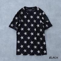 HYDROGEN ALLOVER STARS T-SHIRT(BLACK)