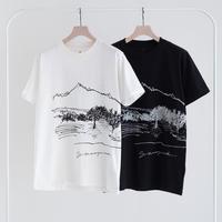 Snow Peak CF Graphic Tee(White/Black)