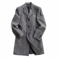 FEEL EASY ORIGINAL HERRINGBONE CHESTER COAT(Gray)