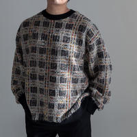 Iroquois 7G TUCK-KNITTING CHECK KNIT(BLACK)