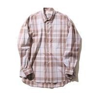 FACTOTUM 大判CHECKワイドシャツ(BEIGE)
