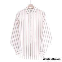 UNITUS Dolman Sleeve Shirt(White×Brown)