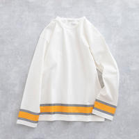 DISCOVERED REFLECTOR CUTSEW(WHITE×ORANGE)