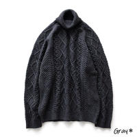 Snow Peak Alpaca Knit Turtleneck Pullover(Gray)
