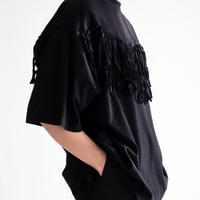 Iroquois BIO MERCERIZED FRINGE T(BLACK)