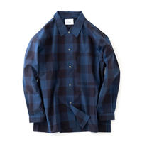 "nuterm ""Alan"" Buggy Shirts(Blue Check)"