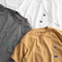 Snow Peak Printed Tshirt Pile Driver(White/Gray Khaki/Mustard)