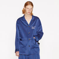 SHAREEF STRIPE PAJAMAS SHIRTS(Blue)