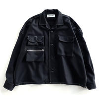DISCOVERED FLANNEL CPO SHIRT(BLACK)