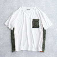 DISCOVERED MA-1 SIDE ZIP CUTSEWN(WHITE×KHAKI)