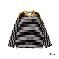 SHAREEF W FACE BORDER L/S PULL OVER(Black)
