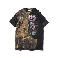 """DISCOVERED """"NEWSED""""LAYERED T-SHIRT(BLACK)"""