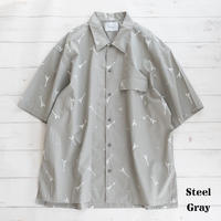 nuterm Printed Work Shirts(Steel Gray)