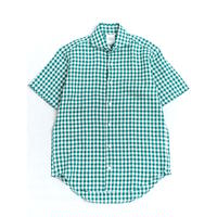 FEEL EASY ORIGINAL GINGHAM CHECK S/S SHIRT(Green)