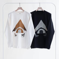 Snow Peak Relaxed Camping L/S Tee(White/Black)