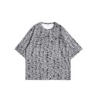 SHAREEF LETTERING PATTERN S/S BIG-T(Black)