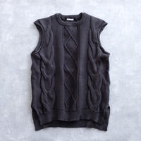 DISCOVERED BIG CABLE VEST(CHARCOAL)
