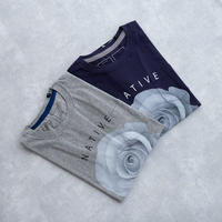 MofM(man of moods) オリジナルTシャツ NATIVE(GRAY/NAVY)