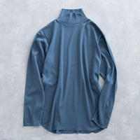 UNITUS High Neck Rib T Shirt(Sax)