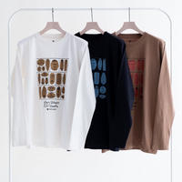Snow Peak 100 Sleep 100 Smile L/S Tee(White/Black/Brown)