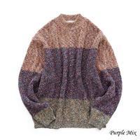 UNITUS Marble Block Knit(Purple Mix)