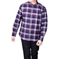FEEL EASY ORIGINAL NEL CHECK SHIRT(Wine)