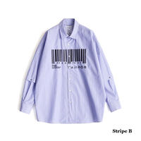 "SHAREEF ""BARCODE""SEPARATE SLEEVE SHIRTS(Stripe B)"