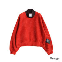 SHAREEF TWILL SHAGGY HIGH NECK PULL OVER(Orange)