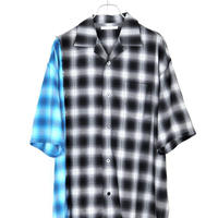 DISCOVERED OMBRE CHECK SHIRT(BLACK×BLUE)
