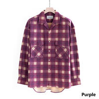 UNITUS Patch&Flap Shirt(Purple)