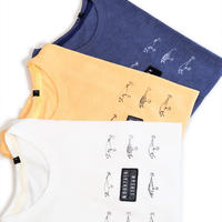 MofM(man of moods) オリジナルTシャツ MOUNTAIN STREAM(WHITE/YELLOW/NAVY)
