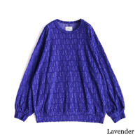 SHAREEF VELOUR LOGO JQ L/S PULL OVER(Lavender)