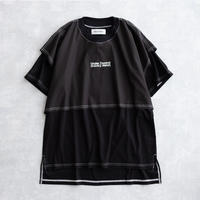 DISCOVERED LAYERED T-SHIRT(BLACK×BLACK)