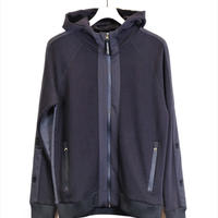 HYDROGEN TWO-TONE FULLZIP FOODIE(BLACK)