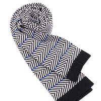 JENNIFER KENT ZIG ZAG'RILEY'SCARF(BLACK)